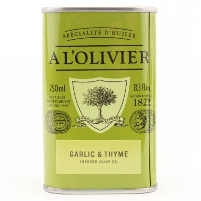 2946 - A l'Olivier olijfolie extra vergine knoflook & tijm 250 ml