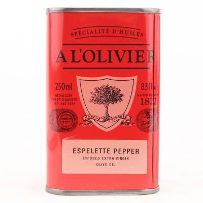 2949 - A l'Olivier olijfolie extra vergine espelette peper 250 ml