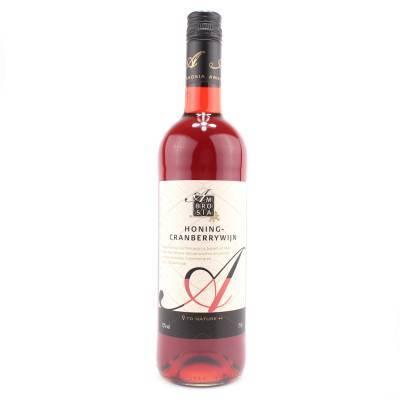 8661 - Ambrosia honing-cranberrywijn 750 ml
