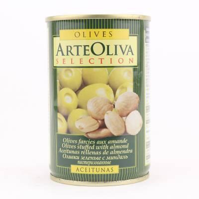 8011 - Arte Oliva olijven met amandel 120 gram