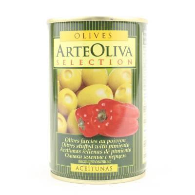8013 - Arte Oliva olijven met paprika 120 gram