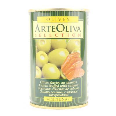 8014 - Arte Oliva olijven met zalm 120 gram