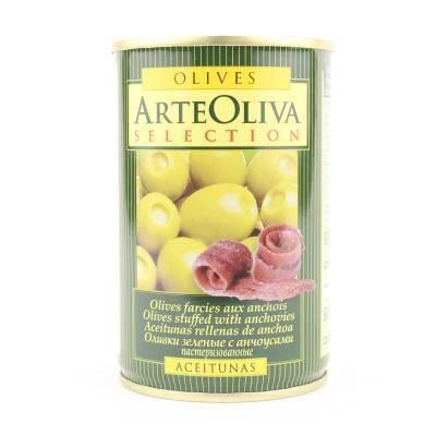 8015 - Arte Oliva olijven met ansjovis 120 gram