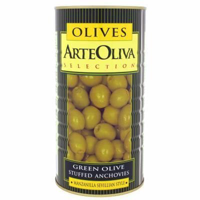 8027 - Arte Oliva olijven ansjovis 1450 gram