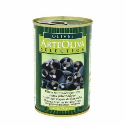 8029 - Arte Oliva olijven zwart zonder pit 300 gram