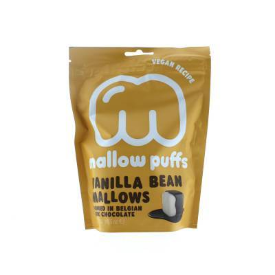 9149 - Mallow Puffs vanilla bean mallows dark chocolate 100 gram