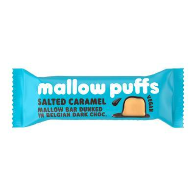 9153 - Mallow Puffs salted caramel mallow bar dark 30 gram