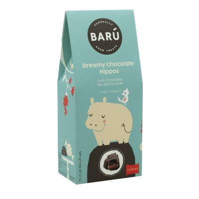 9220 - Barú hippo dark chocolate sea salt & caramel 60 gram
