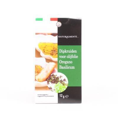 8494 - Naturalmente dipkruiden voor olijfolie oregano & basi 12 gram