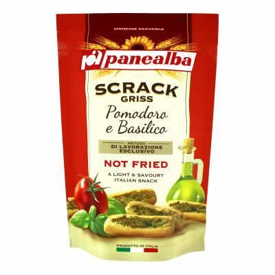 8021 - Panealba scrack griss tomaat & basilicum 100 gram