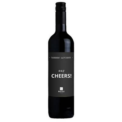 4832 - Bottle Language say cheers! cabernet sauvignon 750 ml