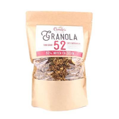6691H - Camile's Granola 52% zaden en noten grootverpakking 1000 gram