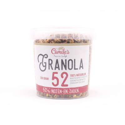 6691 - Camile's granola 52% zaden en noten 350 gram
