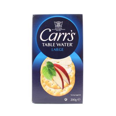 15902 - Carr's table water crackers xl 200 gram