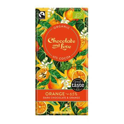 17002 - Chocolate and Love orange 65% 80 gram