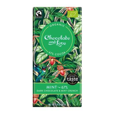 17003 - Chocolate and Love mint 67% 80 gram