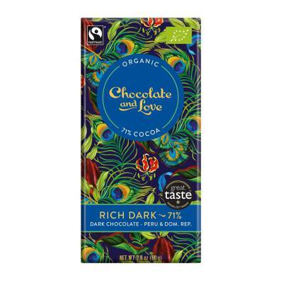 17004 - Chocolate and Love rich dark 71% 80 gram