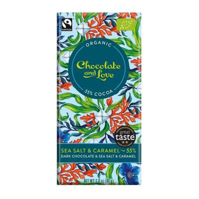17005 - Chocolate and Love sea salt 55% 80 gram