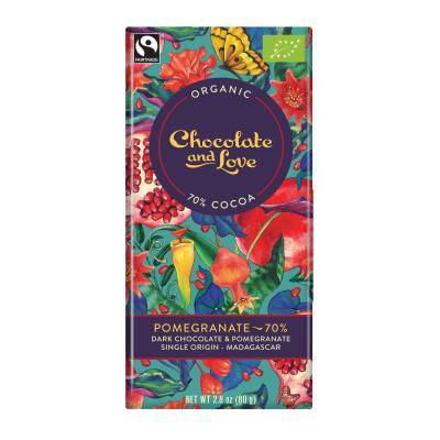 17007 - Chocolate and Love pomegranate 70% 80 gram