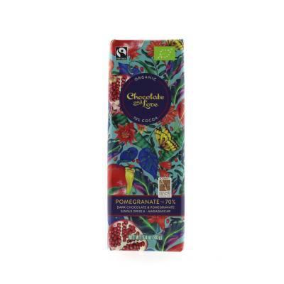 17057 - Chocolate and Love pomegranate dark 70% 40 gram