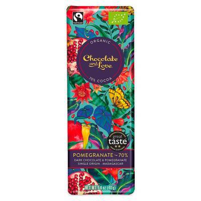 17057 - Chocolate and Love pomegranate dark 70% 40 gram