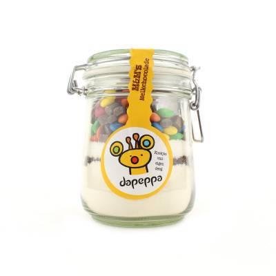12350 - Dapeppa koekjespot m&m melkchocolade 550 gram