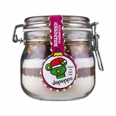 12362 - Dapeppa weckpot walnoot cranberry kerst 415 gram