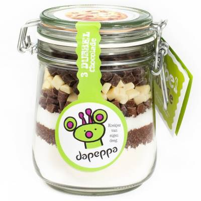 12351 - Dapeppa koekjespot 3 dubbel chocolade 555 gram