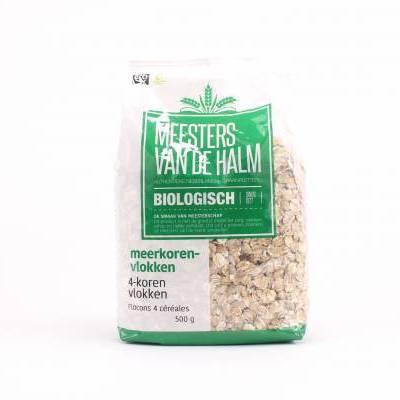 6607 - De Halm 4-korenvlokken 500 gram