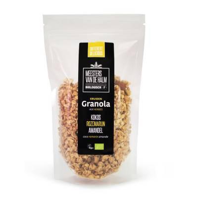 6611 - De Halm granola rozemarijn kokos amandel 350 gram