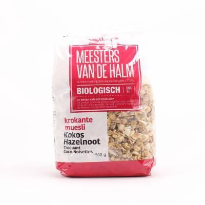 6621 - De Halm krokante muesli kokos hazelnoot 600 gram
