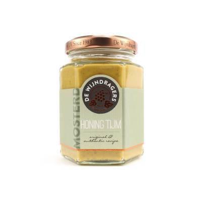 1136 - Wijndragers honing tijmmosterd 195 gram