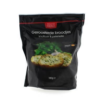 8425 - Deli Di Paolo knoflook & peterselie broodje geroosterd 160 gram