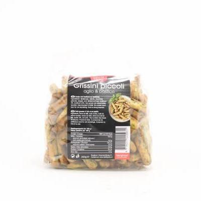 8427 - Deli Di Paolo grissini piccoli aglio & basilico 200 gram