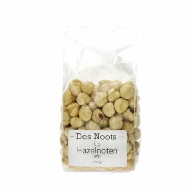 3030 - Des Noots witte hazelnoten 150 gram