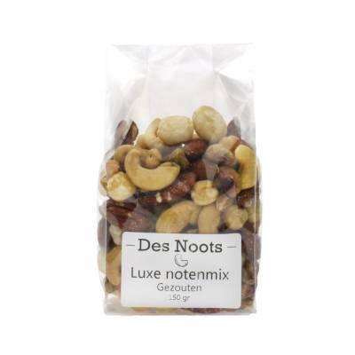 3032 - Des Noots notenmix luxe gebrand/gezouten zak 150 gram