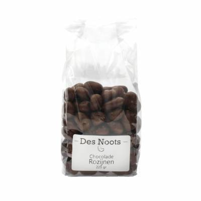 3055 - Des Noots chocolade rozijnen 225 gram