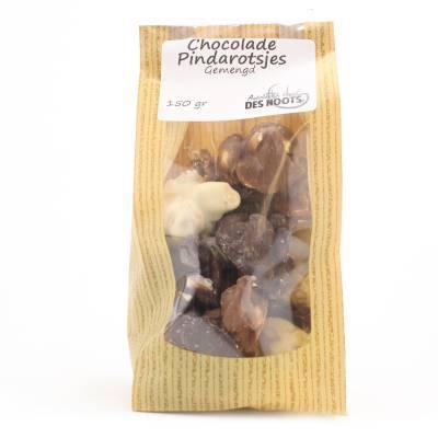 3041 - Des Noots chocolade pindarotsjes gemengd 150 gram