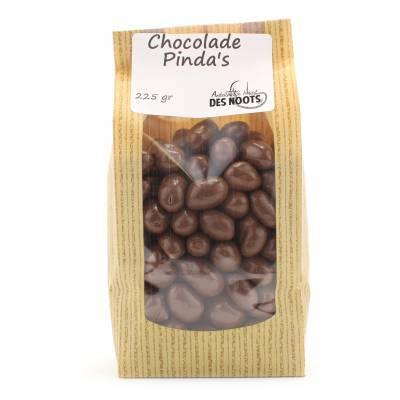 3053 - Des Noots chocolade pinda`s 225 gram