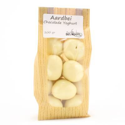 3102 - Des Noots aardbei chococolade yoghurt 200 gram