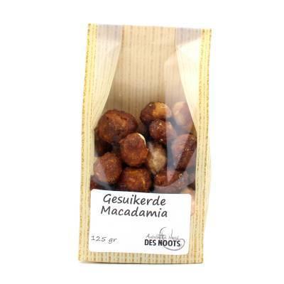 3133 - Des Noots Gesuikerde Macadamia 125 gram