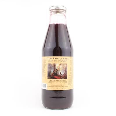 9004 - Dutch Cranberry Group cranberry ongezoet sap 750 ml