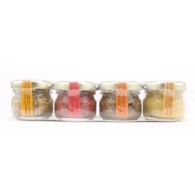 8287 - Edmond Fallot mosterd cadeau set 4 potjes 25 gram 100 gram
