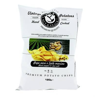 9926 - Fox Italia potatoes chips pepper & salt 120 gr