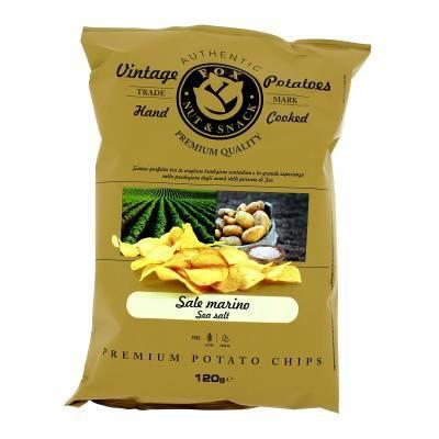 9929 - Fox Italia potatoes chips seasalt 120 gr