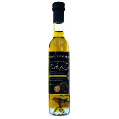 131332 - Giuliano Tartufi olijfolie ev met stukjes zwarte truffel 100 ml