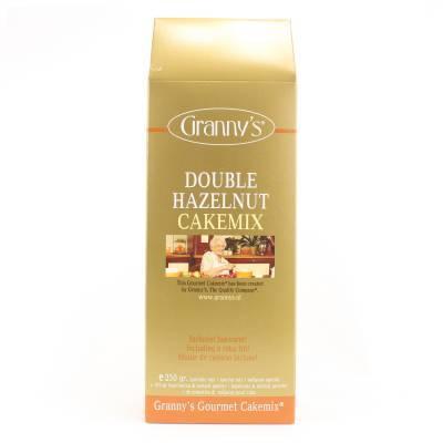1722 - Granny's double hazelnut cakemix 250 gram
