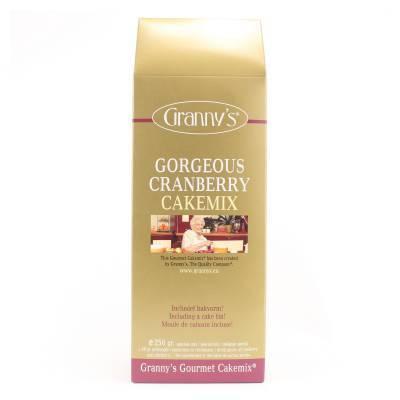 1723 - Granny's gorgeous cranberry cakemix 250 gram