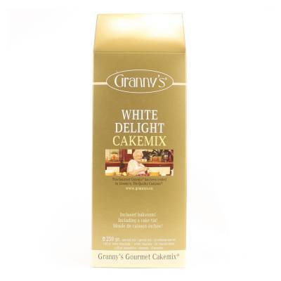 1724 - Granny's white delight cakemix 250 gram