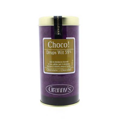 1737 - Granny's chocodrups wit 200 gram